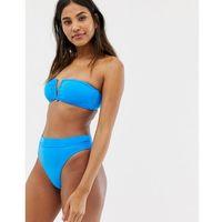 electric blue high rise bikini bottom in blue - blue, Seafolly