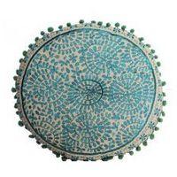 Poduszka dekoracyjna niebieska indyjska 40cm marki India gifts