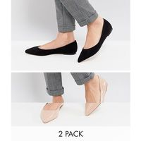 ASOS LATCH Two Pack Pointed Ballet Flats - Multi