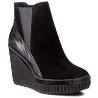 Calvin klein Botki jeans - sasha r0577 black/black