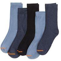 Skarpetki (5 par) niebiesko-pomarańczowy marki Bonprix