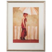 obraz lady with umbrella i 65x85cm -30%, 65x85 marki Dekoria