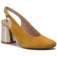 Sandały - 1099700 żółty zamsz, Baldaccini, 36-39