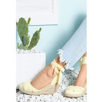 Żółte Sandały Attractive, kolor żółty