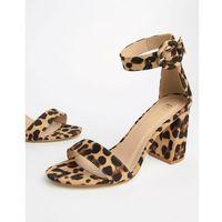 genna leopard print block heeled sandals - multi marki Raid