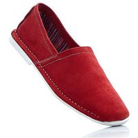 Półbuty wsuwane skórzane czerwony marki Bonprix