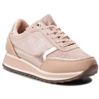 Sneakersy - metallic retro runner fw0fw03337 mahogany rose 641 marki Tommy hilfiger