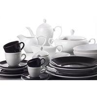 OXFORD SORTIDO - Porcelanowa zastawa stołowa obiadowo-kawowa 50 części na 6 osób