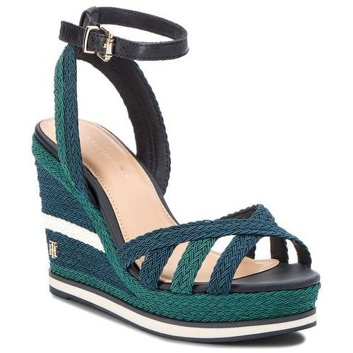 Sandały TOMMY HILFIGER - Wedge Sandal Sporty Outsole FW0FW02251 Midnight 403, 39-41