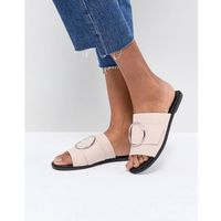 round buckle trim sandal - pink marki London rebel