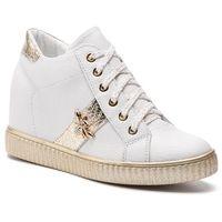 R.polański Sneakersy - 0959 biały lico złoty