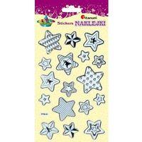 Gwiazdy naklejki złoto-srebrne 17 szt CRAFT-FUN - gwiazdy