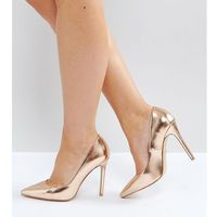 chloe rose gold court shoes - gold marki Faith wide fit