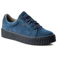 Sneakersy NESSI - 17111 Granat W, kolor niebieski