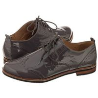 Oxfordy szare 9-23200-29 229 dk grey patent (cp81-a), Caprice