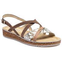 Sandały ANN MEX - 0157 03KW+03S+03DC Beż, w 5 rozmiarach