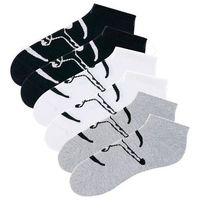 Skarpetki stopki chiemsee (6 par) czarny + biały + szary melanż, Bonprix