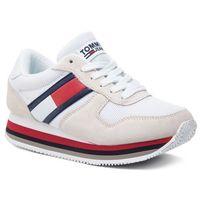 Sneakersy TOMMY JEANS - Retro Tommy Jeans Sneaker EN0EN00486 Ice 101