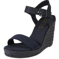 sandały z rzemykami 'colorful tommy wedge sandal' ciemny niebieski marki Tommy hilfiger