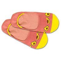 DillySocks Skarpetki stopki 'Hidden Avocado' żółty / różowy pudrowy, kolor różowy