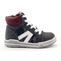 Sportowe wkładka skóra 10073 szare marki Buty american club