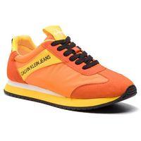 Sneakersy jeans - jill r8527 multi orange, Calvin klein, 35-41