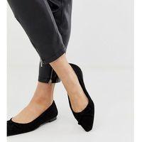 square toe ballet pump in black - black marki Mango