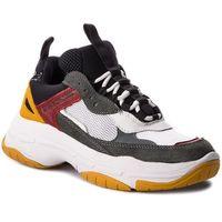 Calvin klein Sneakersy jeans - maya r0803 white/black/grey/ros