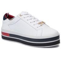 Sneakersy - th hardware flatform sneaker fw0fw04295 white 100 marki Tommy hilfiger