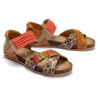 Maciejka 03375-29/00-5 rudy, sandały damskie - brązowy