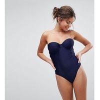 Peek & beau fuller bust bustier swimsuit dd - g cup - black