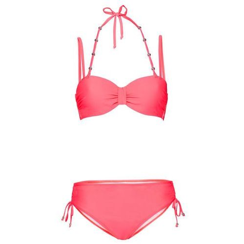 Bikini na fiszbinach (2 części) bonprix czerwony neonowy, bikini