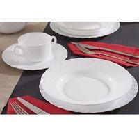 trianon white serwis obiadowy 24/6 marki Luminarc