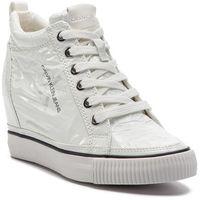 Sneakersy jeans - ritzy re9850 white, Calvin klein, 39-40