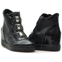 Kiera Sneakersy damskie 667/CZ.S Czarne lico
