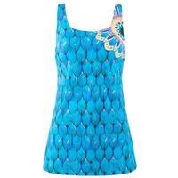Sukienka kąpielowa wyszczuplająca niebieski z nadrukiem marki Bonprix