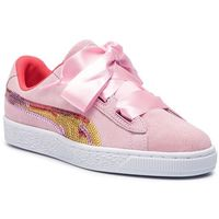 Sneakersy PUMA - Suede Hrt Trailblazer Sqn Jr 368953 01 Pale Pink/Hibiscus, w 6 rozmiarach