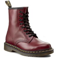 Glany DR. MARTENS - 1460 10072600 Cherry Red Smooth, kolor czerwony