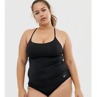 Nike Curve cross back tankini bikini top in black - Black, kolor czarny