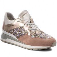 Sneakersy GEOX - D Shahira B D62N1B 0AJAY C8A1W Antique Rose/Silver, w 2 rozmiarach