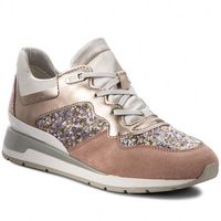 Sneakersy GEOX - D Shahira B D62N1B 0AJAY C8A1W Antique Rose/Silver, w 6 rozmiarach