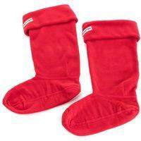 Skarpety Wysokie Damskie HUNTER - Boot Sock UAS3000AAA MD 0418 MRL, kolor czerwony