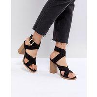 RAID Abree Black Block Heeled Sandals - Black, kolor czarny