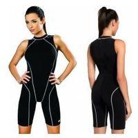 strój kąpielowy treningowy damski jednoczęściowy pbt (czarny) (gw10126/1) marki Gwinner