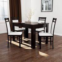 stół S-44 80x140-180 + 4 krzesła K-37