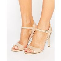 London rebel barely there heeled sandal - beige
