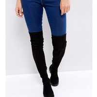 Asos design Asos korey flat over the knee boots - black