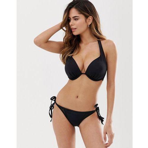 Pour Moi Fuller Bust Space padded plunge bikini top in black - Black, kolor czarny