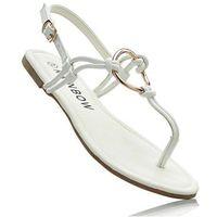 Sandały japonki biały marki Bonprix