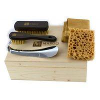 mgs2-1, firmowy 5-el. zestaw do pielęgnacji obuwia w drewnianym pudełku marki Margo